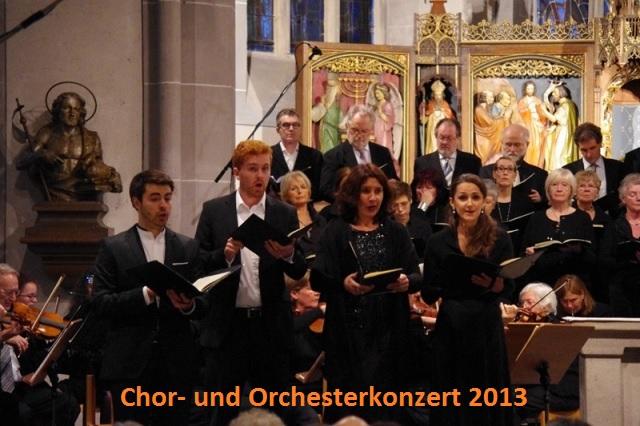 Chor- und Orchesterkonzert 2013