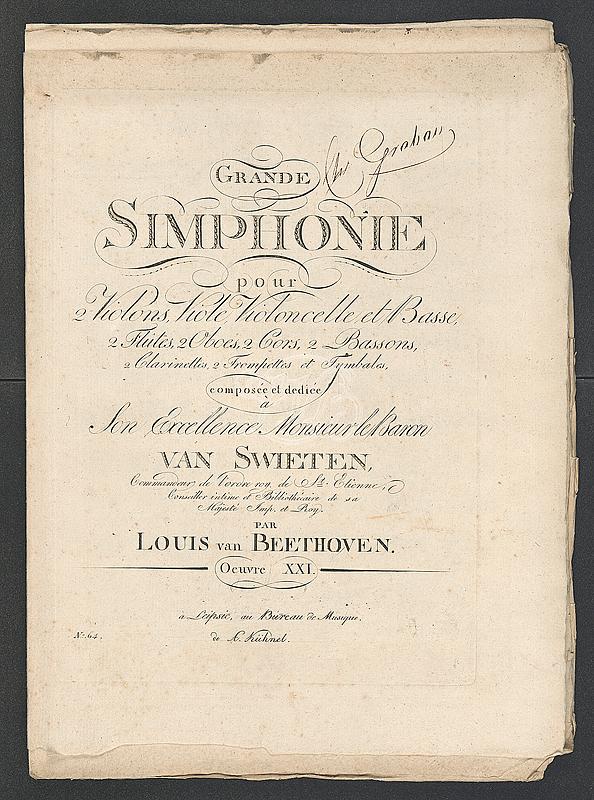 Beethoven Partitur Symphonie Nr. 1