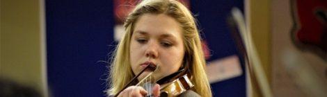 Orchesterprobe mit Judith Stapf
